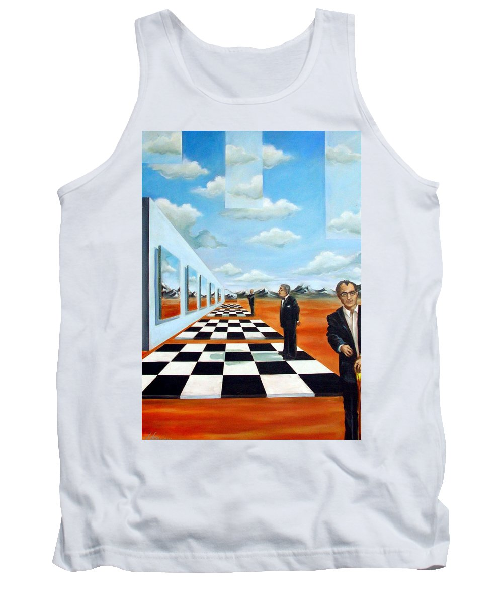 Surreal Tank Top featuring the painting The Gallery by Valerie Vescovi