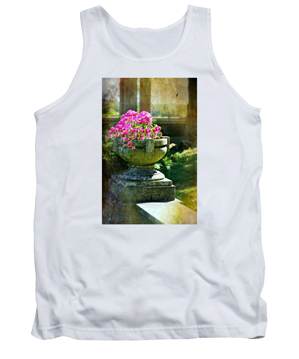 Urn Tank Top featuring the photograph The Grecian Urn by Diana Angstadt