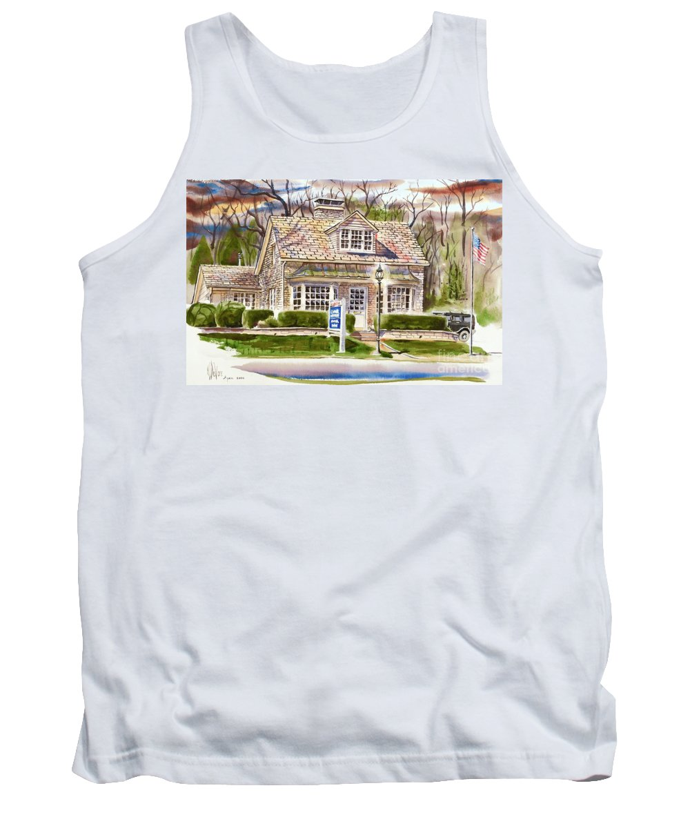 The Greystone Inn In Brigadoon Tank Top featuring the painting The Greystone Inn In Brigadoon by Kip DeVore