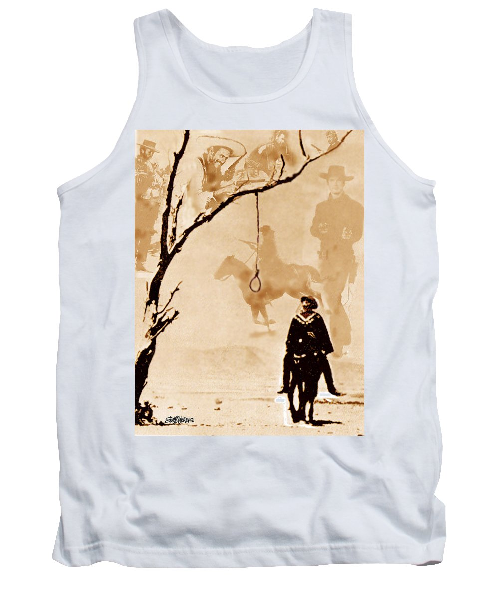 Clint Eastwood Tank Top featuring the digital art The Hangman's Tree by Seth Weaver