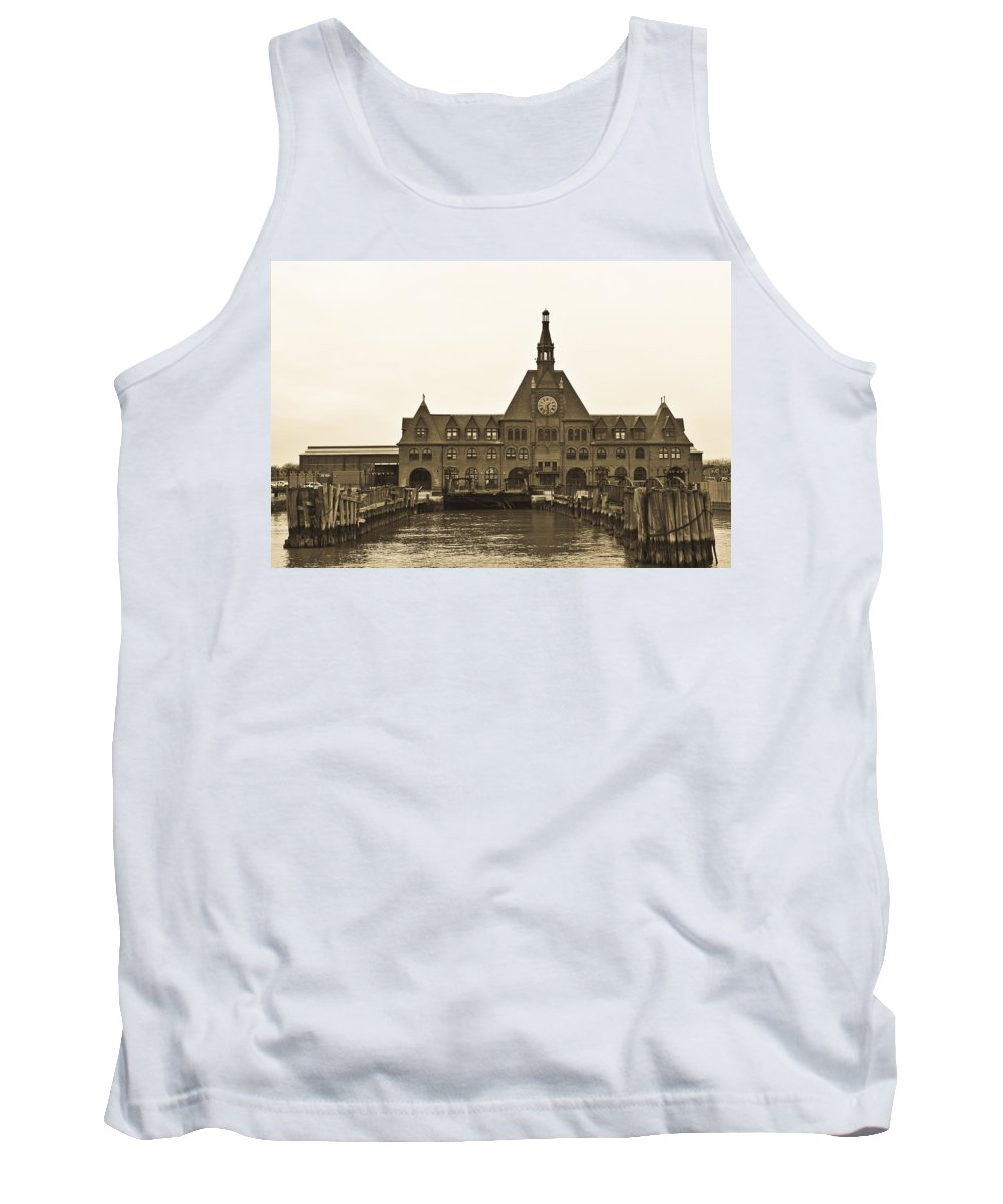 Landscape Tank Top featuring the photograph The Historic Crrnj Train Terminal by Jiayin Ma
