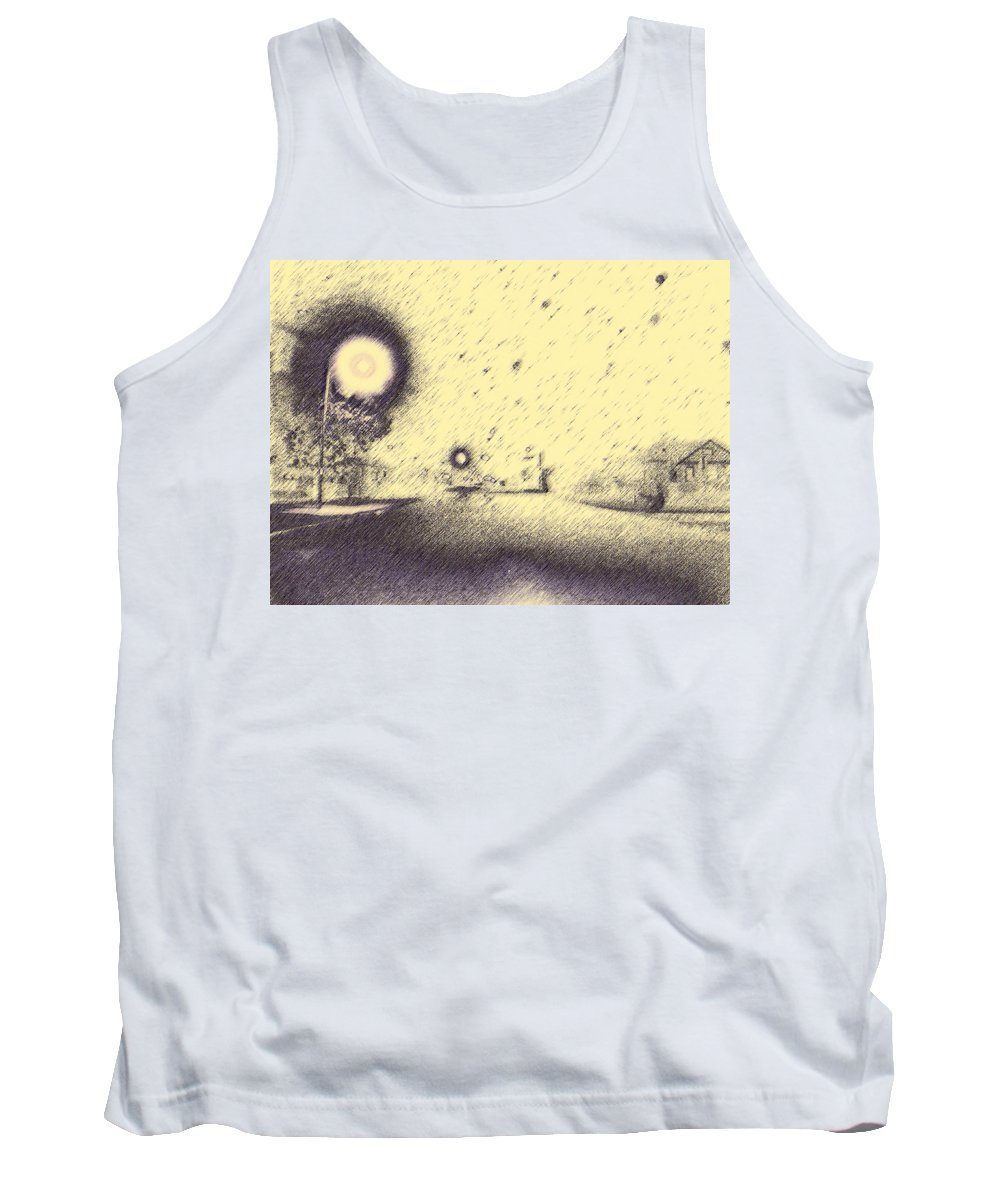 Abstract Tank Top featuring the photograph The House On The Corner by Lenore Senior