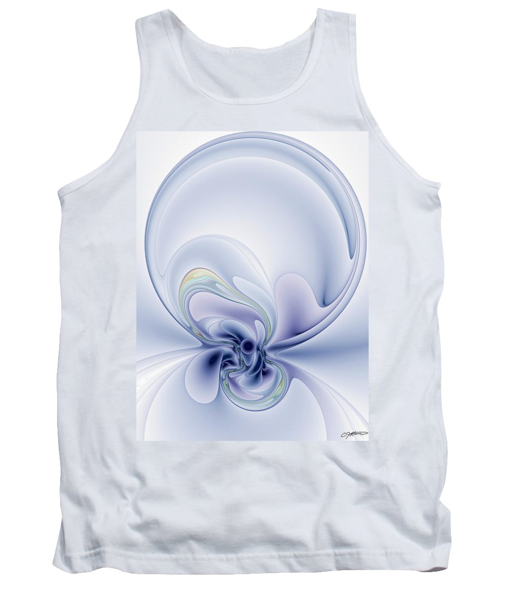 Abstract Tank Top featuring the digital art The Liquidity Of Thought by Casey Kotas