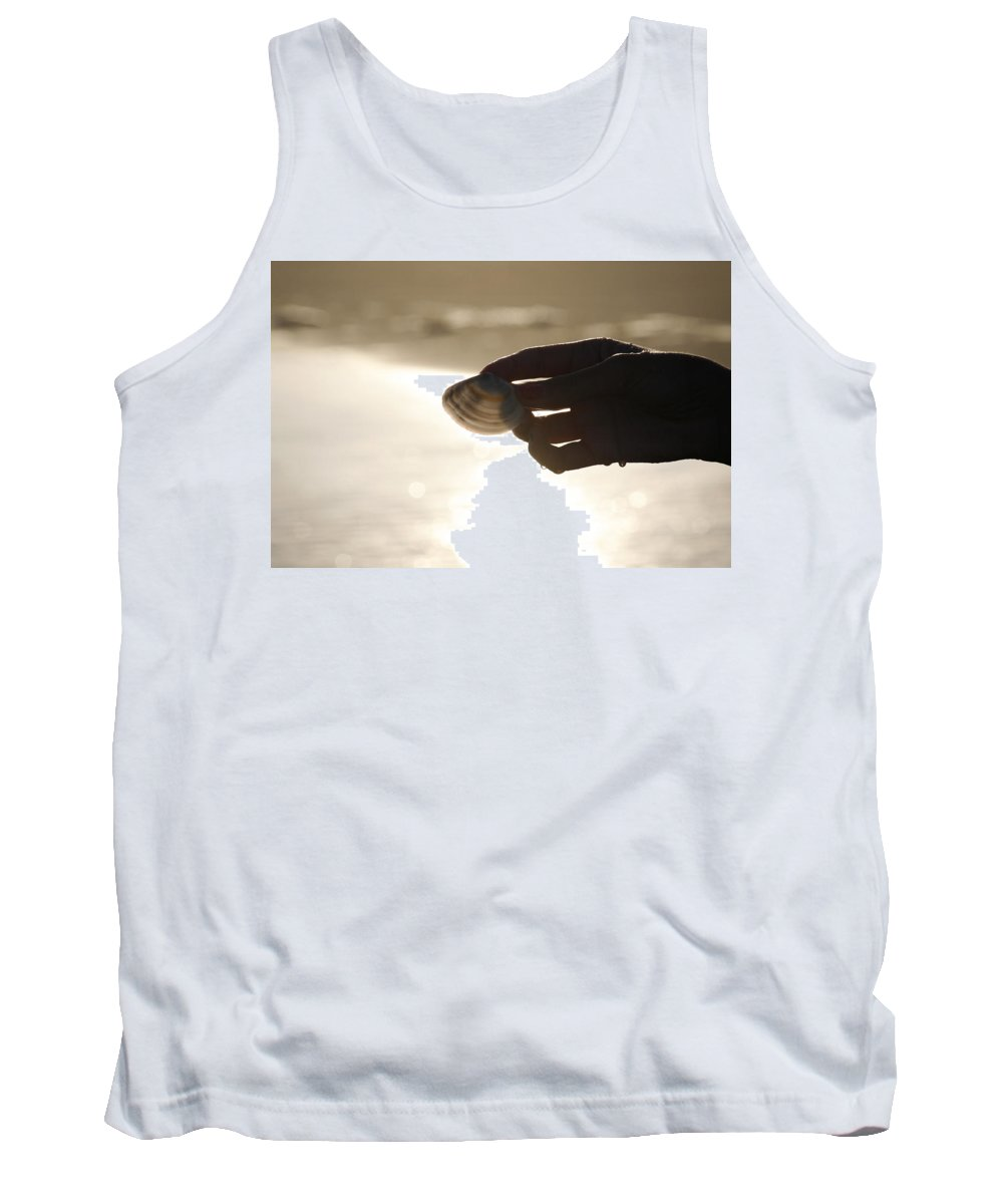 Hand Tank Top featuring the photograph The Magic Of Light by Marilyn Hunt