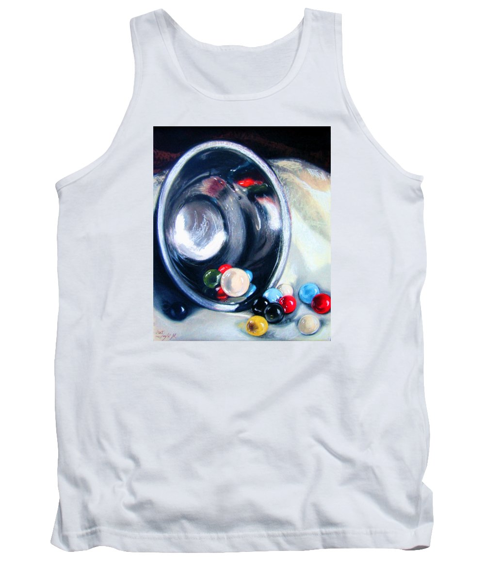 Marbles Tank Top featuring the pastel The Marble Bowl by Leyla Munteanu
