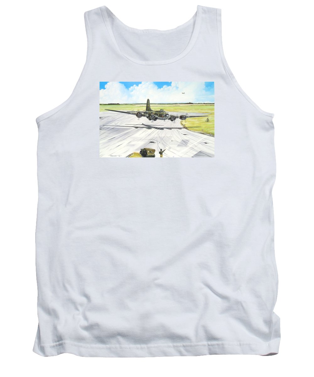Military Tank Top featuring the painting The Memphis Belle by Marc Stewart
