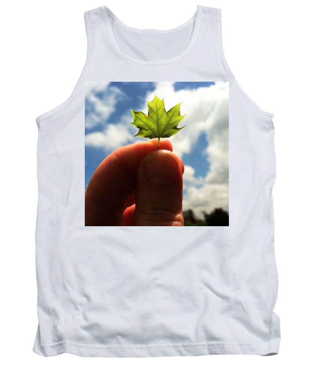 Leaf Tank Top featuring the photograph The Mighty Maple by Michelle Calkins