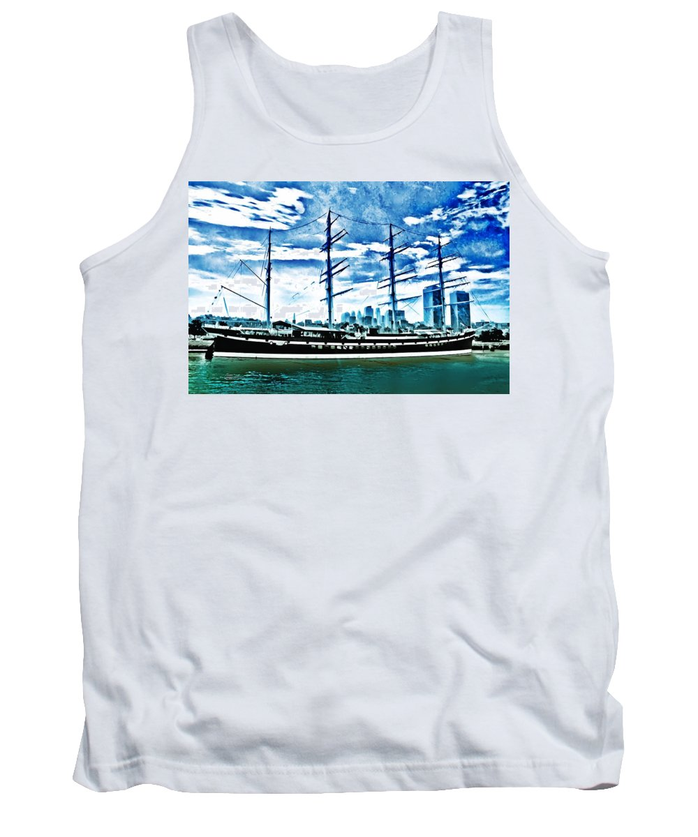 Moshulu Tank Top featuring the photograph The Moshulu by Bill Cannon