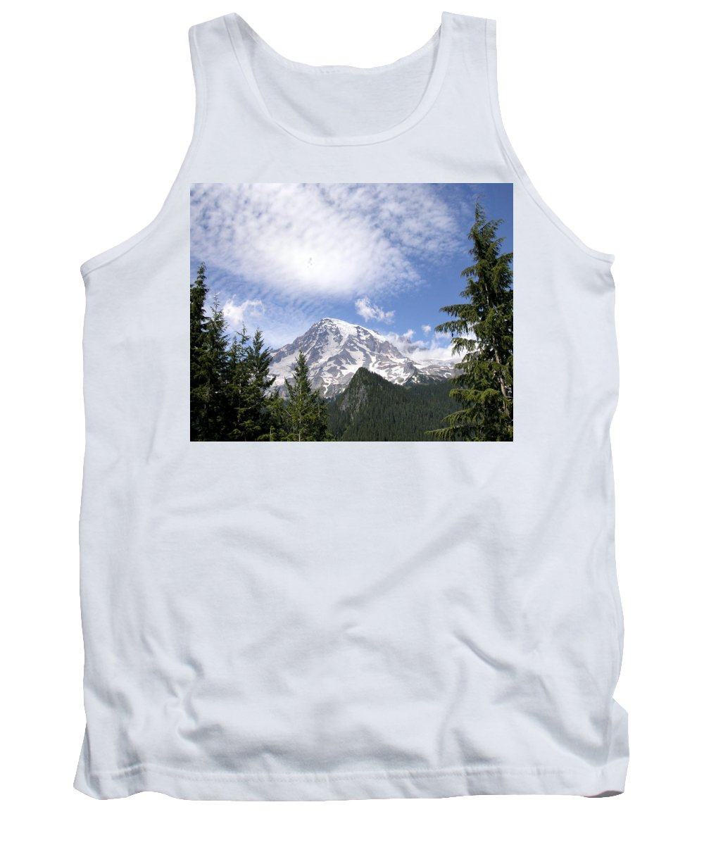 Mountain Tank Top featuring the photograph The Mountain Mt Rainier Washington by Michael Bessler
