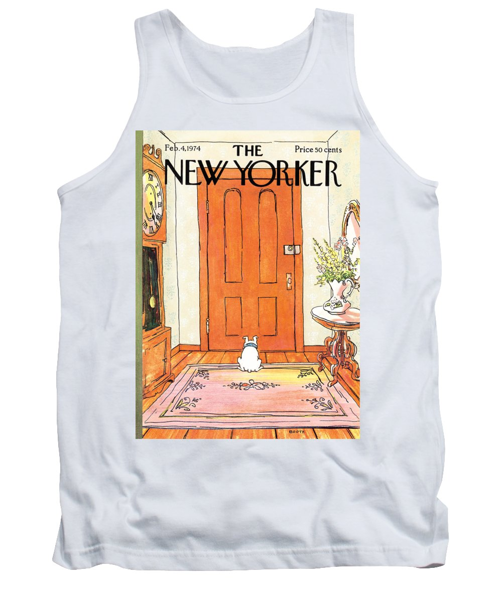 Animal Tank Top featuring the photograph The Long Wait by George Booth