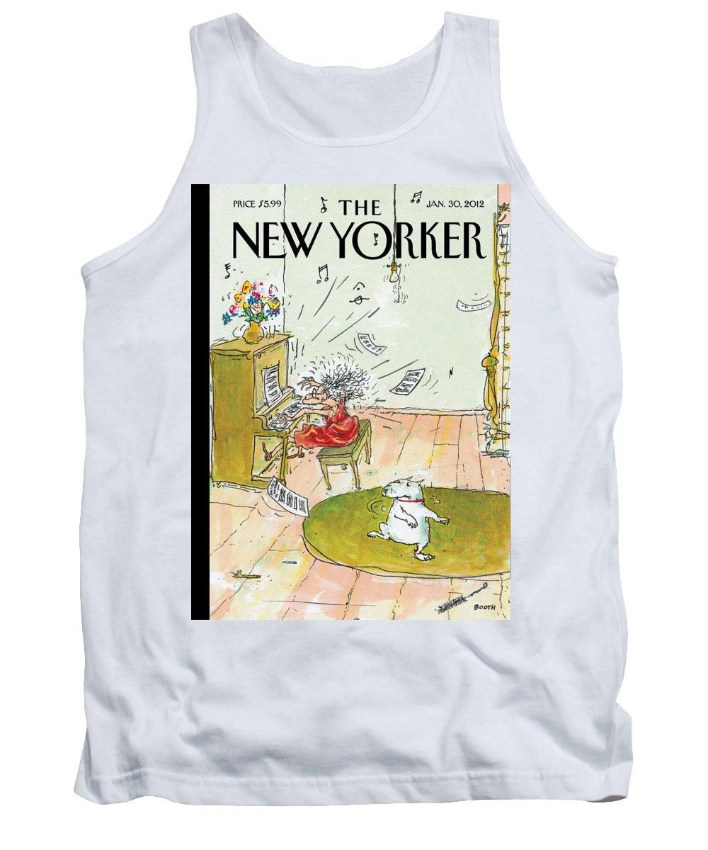 Woman Tank Top featuring the photograph Winter Blues by George Booth