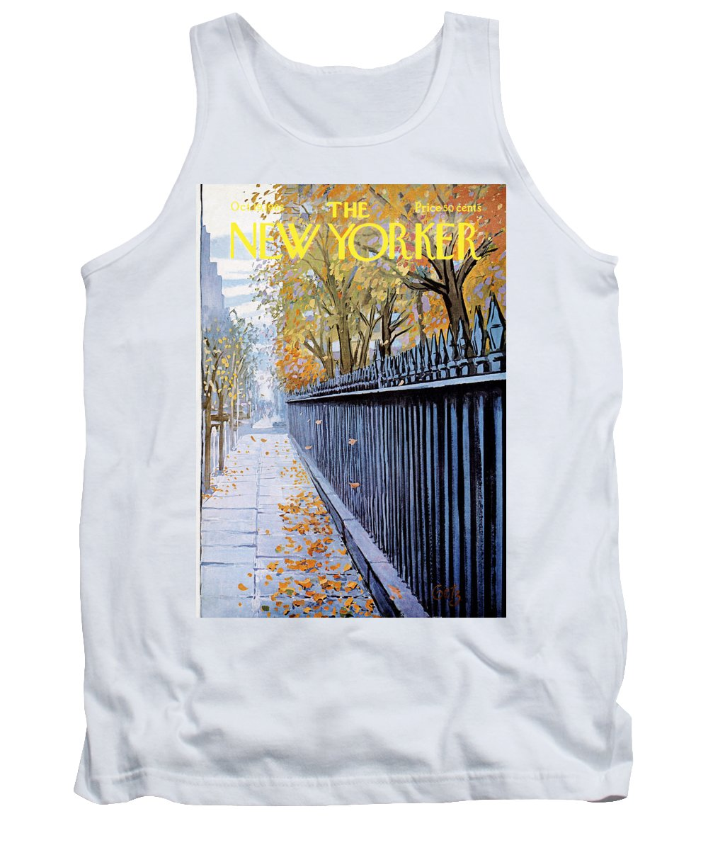 Season Tank Top featuring the painting Autumn In New York by Arthur Getz