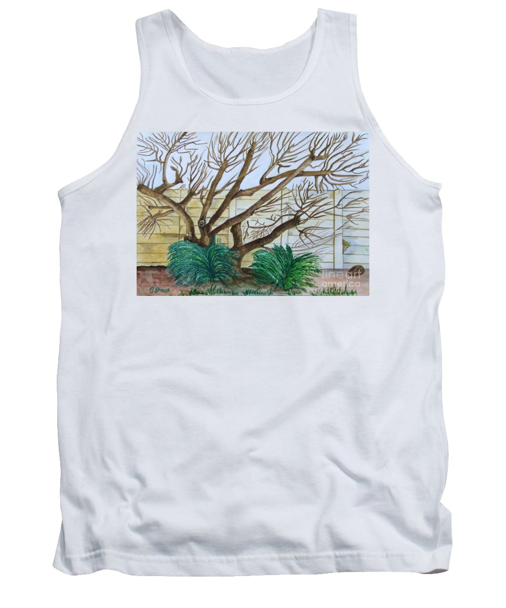 Trees Tank Top featuring the painting The Old Apricot Tree by Caroline Street