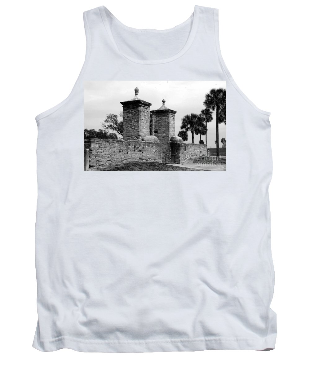Saint Augustine Florida Tank Top featuring the photograph The Old City Gates by David Lee Thompson