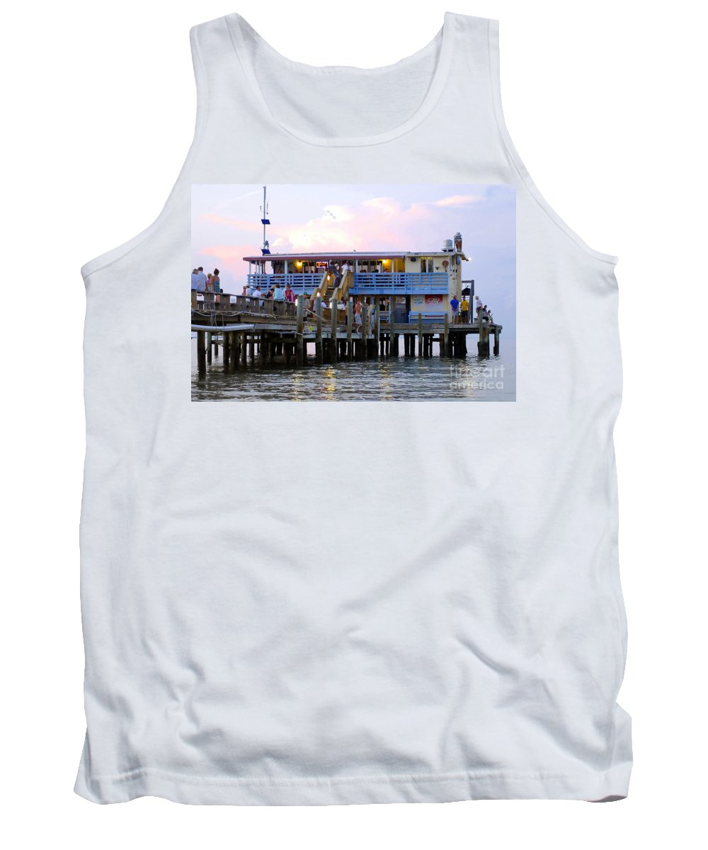 Fishing Pier Tank Top featuring the photograph The Old Pier by David Lee Thompson