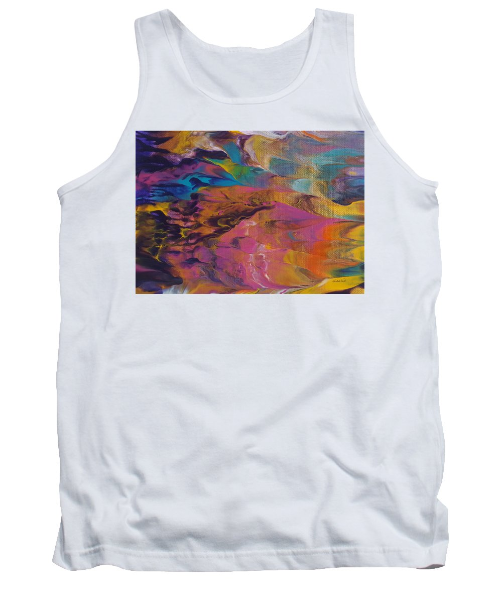 Abstract Painting Tank Top featuring the painting The Other Side Of Darkness by Leslie Joy Ferguson