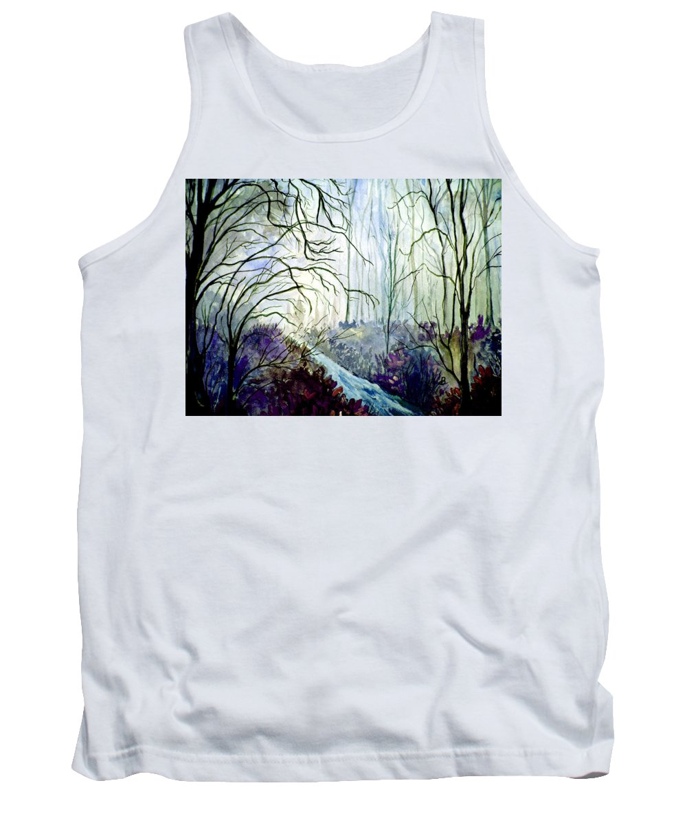Watercolor Tank Top featuring the painting The Path by Brenda Owen