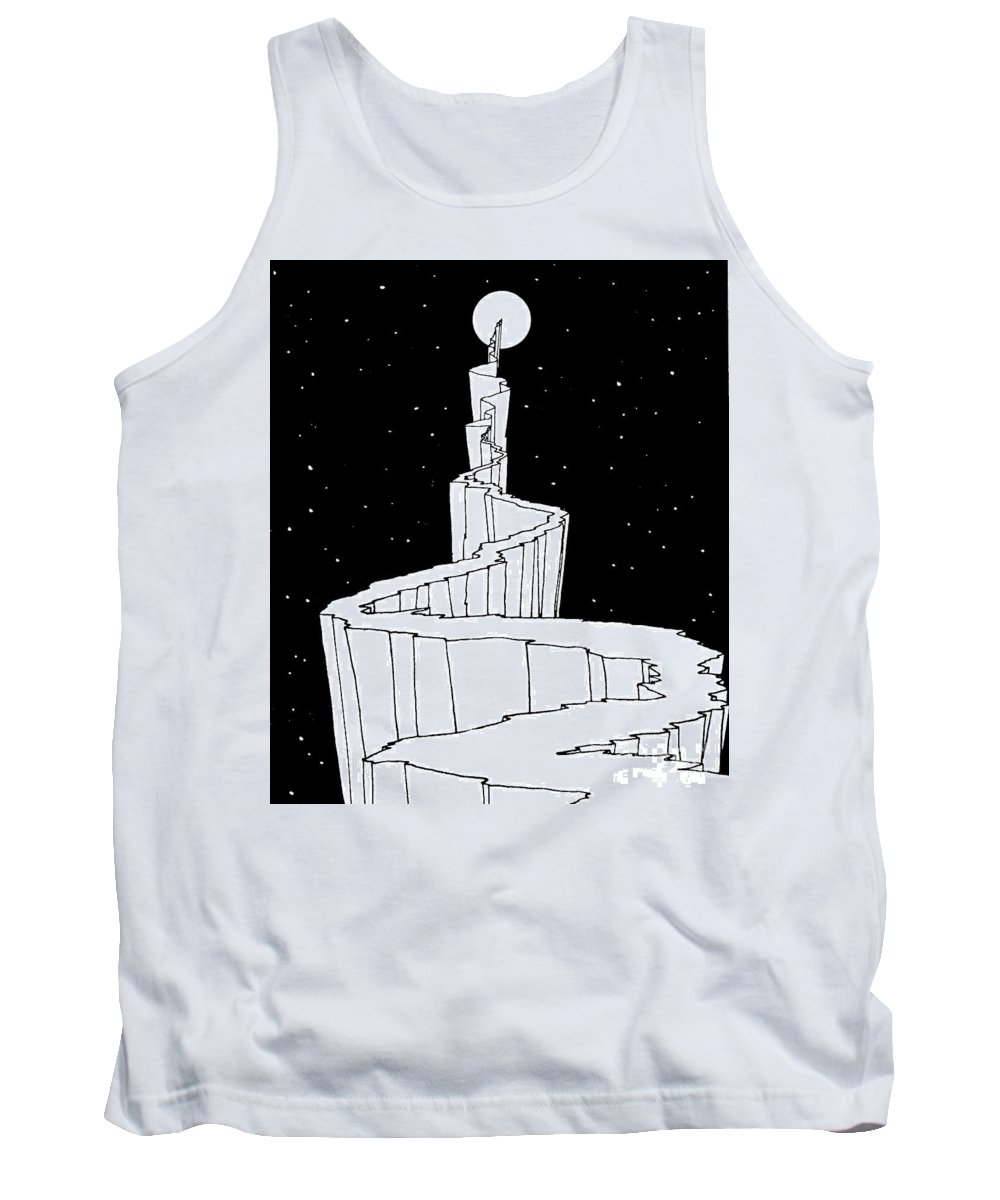 Reach For The Sky Drawings Tank Tops