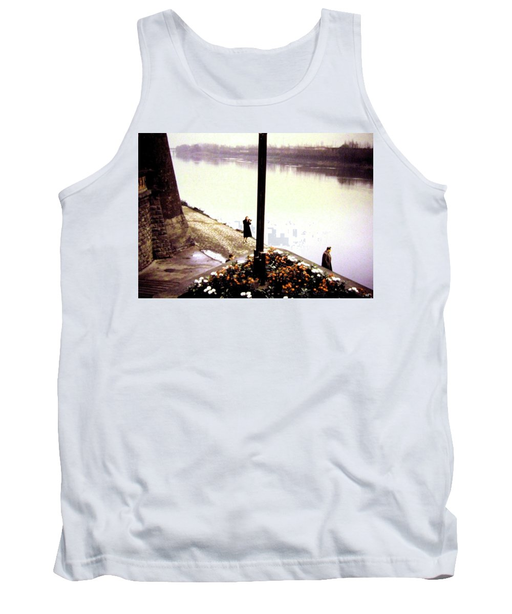 1955 Tank Top featuring the photograph The River Seine 1955 by Will Borden