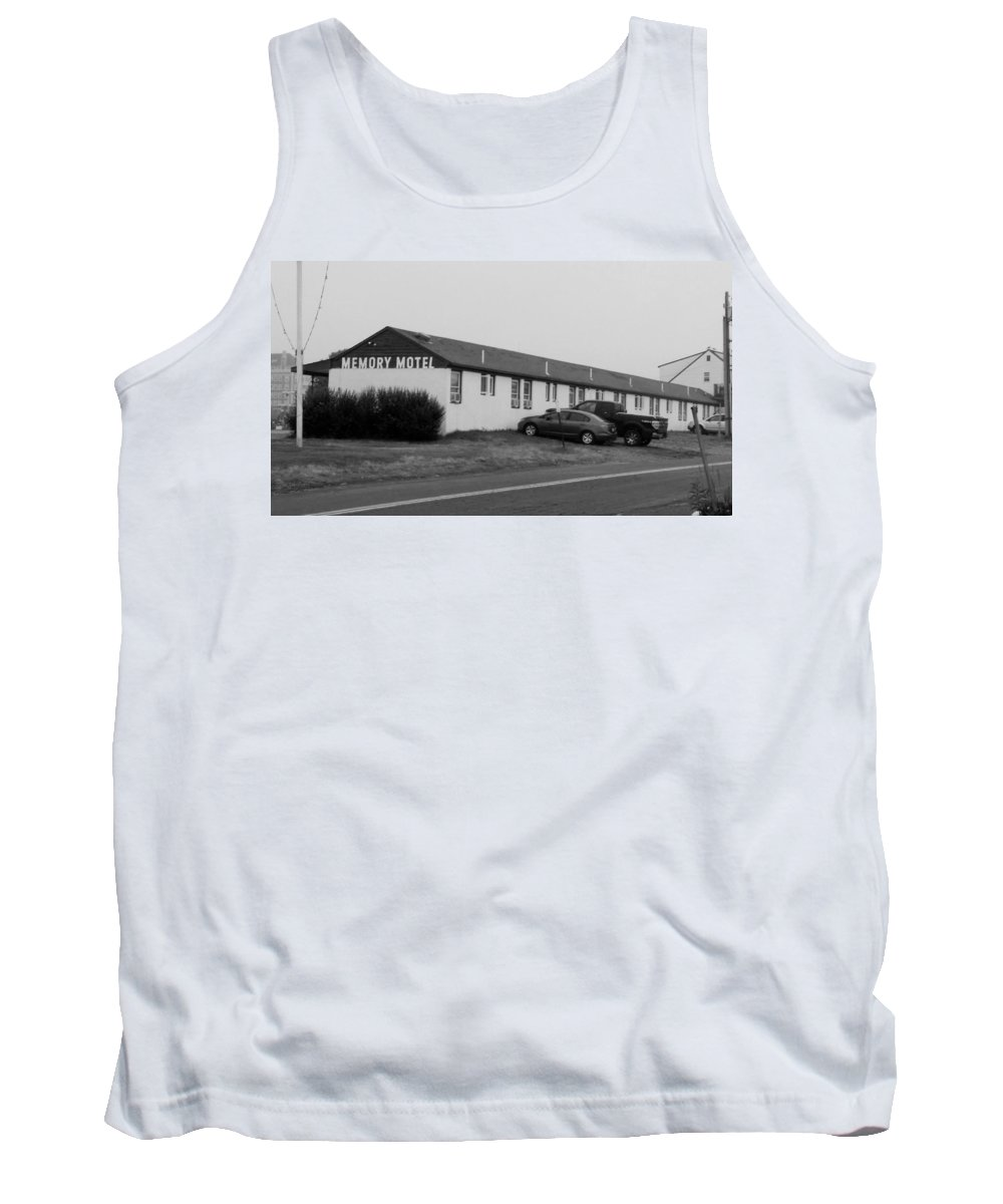 The Rolling Stones Tank Top featuring the photograph The Rolling Stones' Memory Motel Montauk New York by Rob Hans