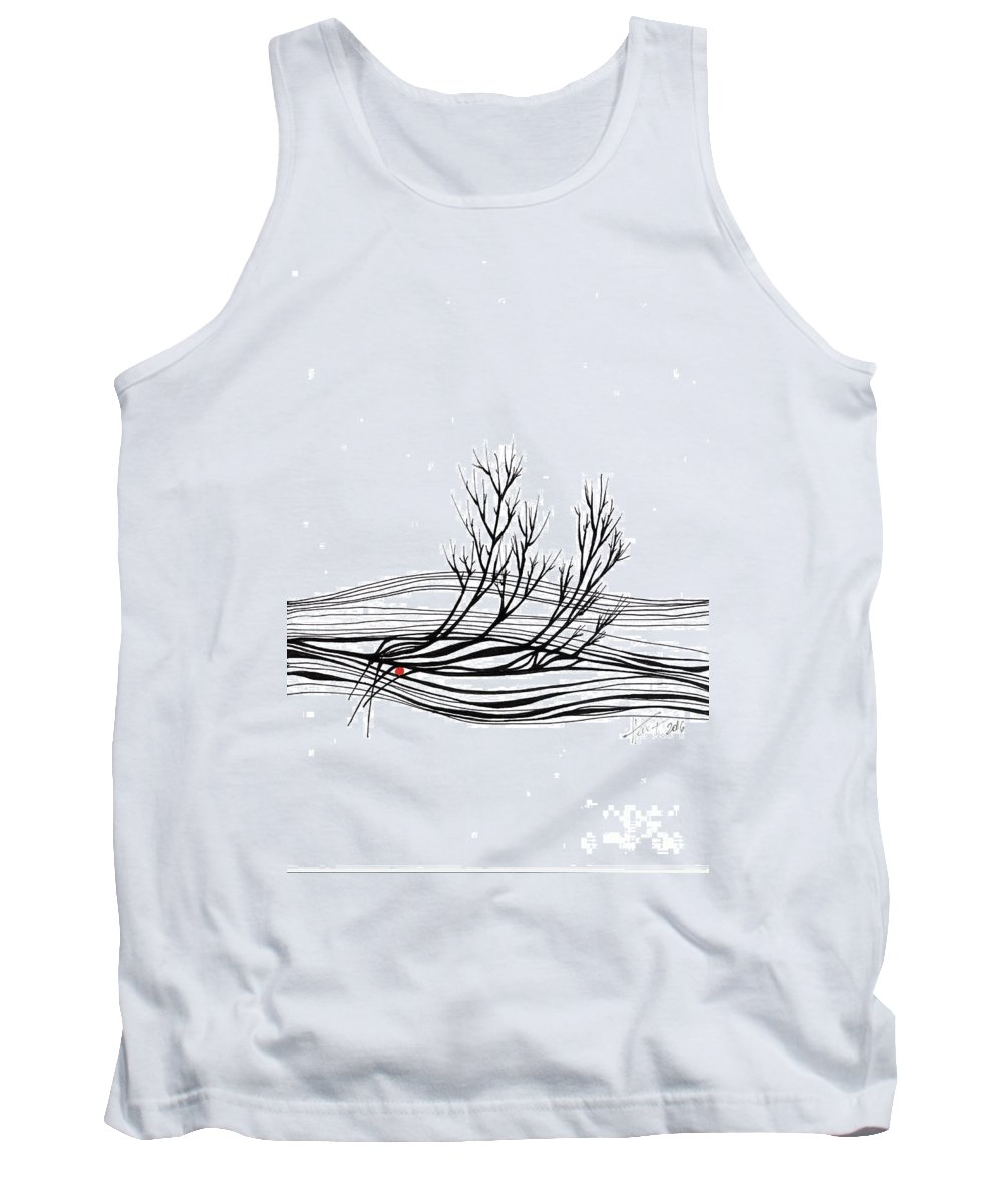 Trees Tank Top featuring the drawing The Seed by Aniko Hencz