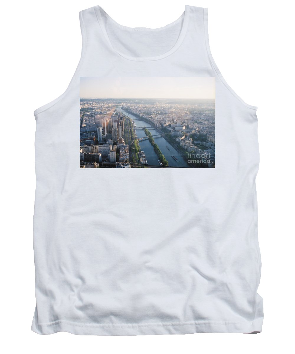 City Tank Top featuring the photograph The Seine River In Paris by Nadine Rippelmeyer