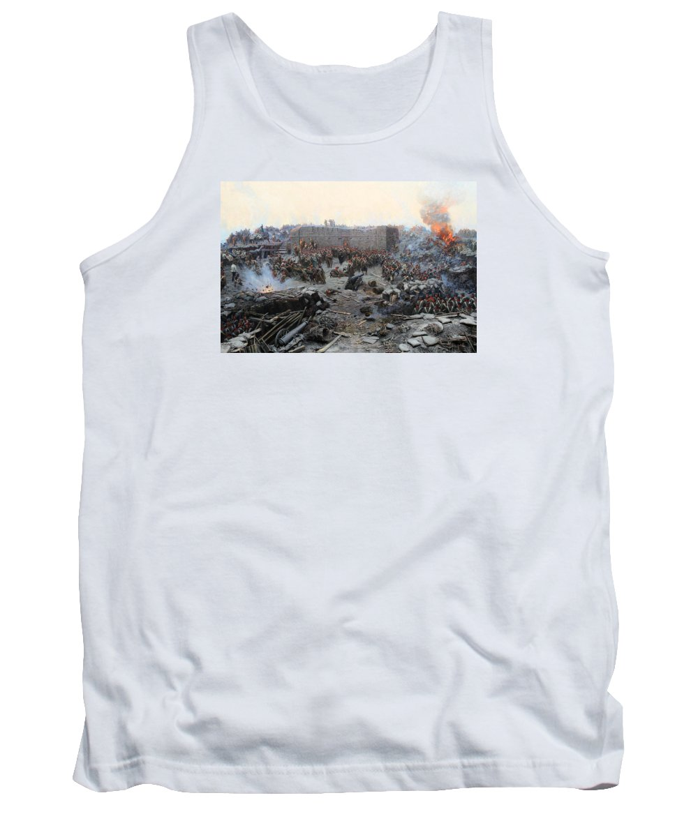 Sevastopol Tank Top featuring the painting The Siege Of Sevastopol by Mountain Dreams