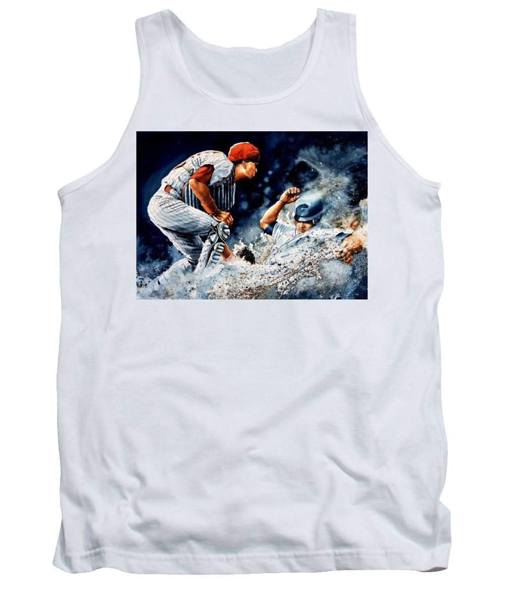 Sports Art Tank Top featuring the painting The Slide by Hanne Lore Koehler