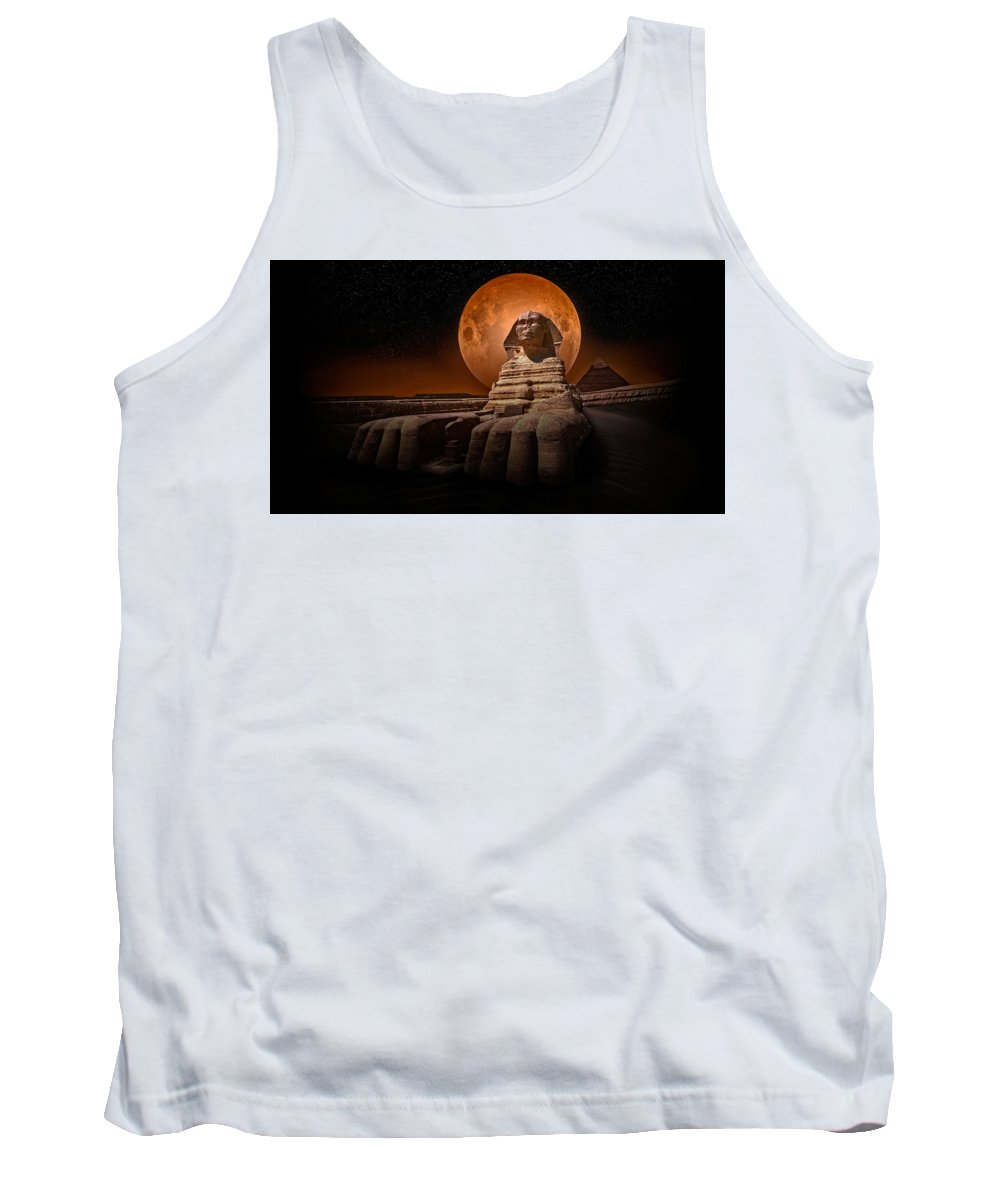 Sphinx Tank Top featuring the photograph The Sphinx by Nasser Osman