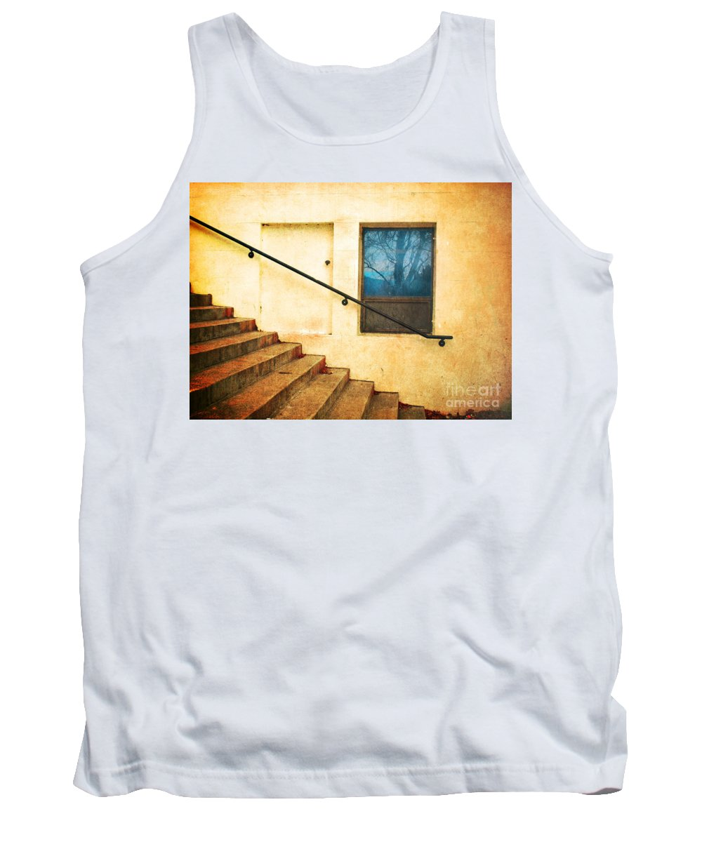 Stairs Tank Top featuring the photograph The Stairway Of Reflections by Tara Turner