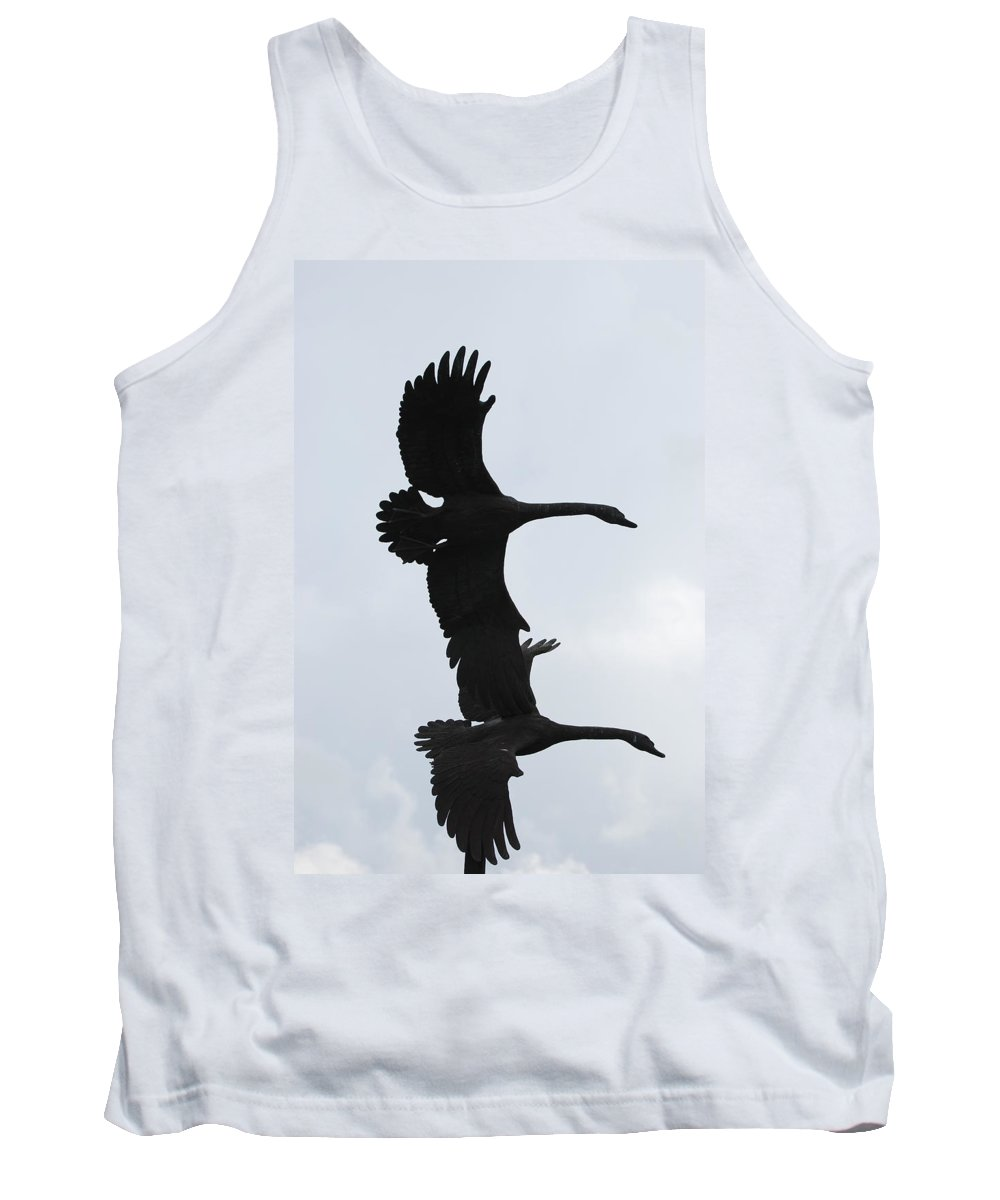 Sky Tank Top featuring the photograph The Stone Birds by Rob Hans