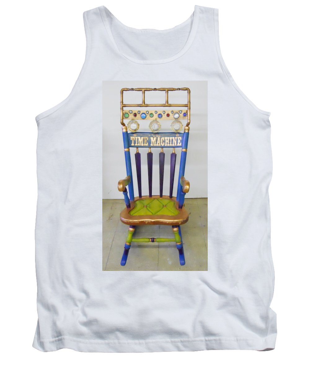 Tank Top featuring the mixed media The Time Machine by Cindy D Chinn