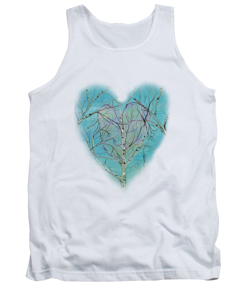 Tree Canvas Prints Tank Top featuring the painting The Trees Speak To Me In Whispers by Deborha Kerr