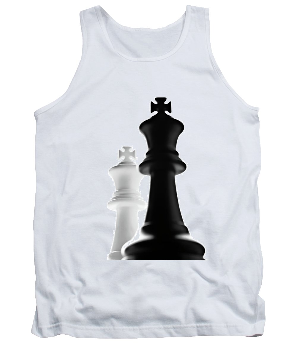 King Chess Pieces Tank Top featuring the photograph The Two Kings by Onyonet Photo Studios
