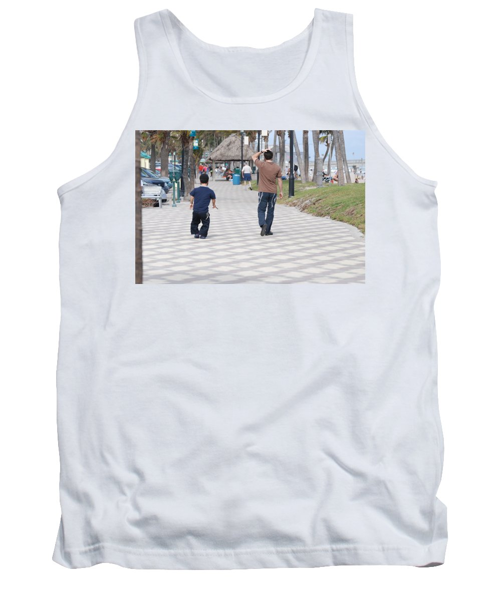 Man Tank Top featuring the photograph The Walk by Rob Hans