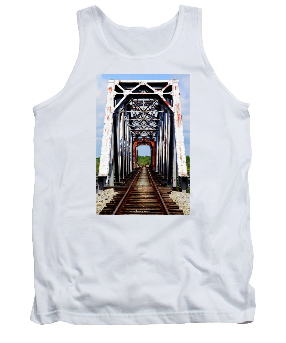 Train Tressels Tank Top featuring the photograph The Way Is Clear by Karen Wiles