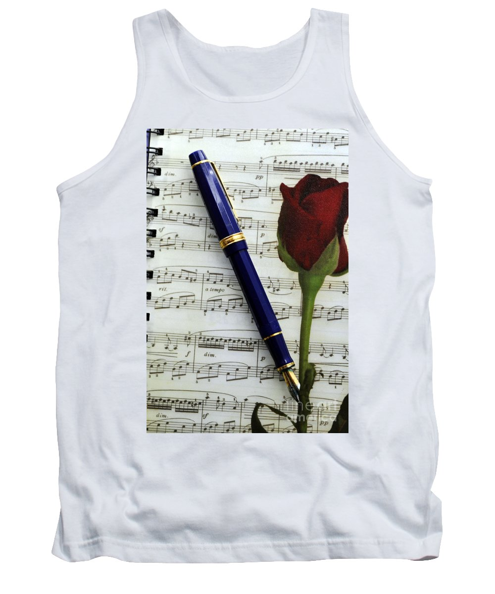 Clay Tank Top featuring the photograph The Writers Journal by Clayton Bruster