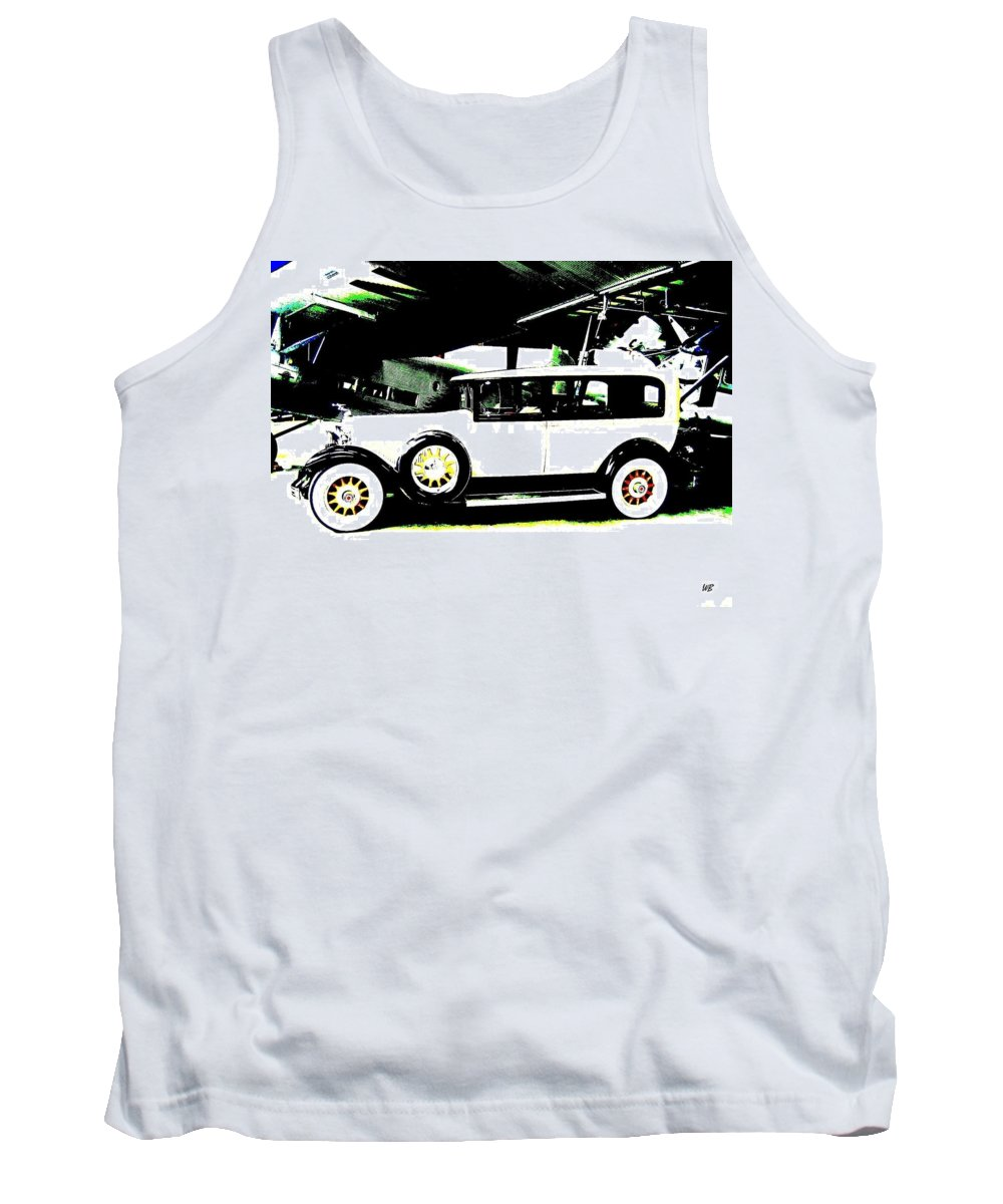 Packard Tank Top featuring the digital art Thirties Packard Limo by Will Borden