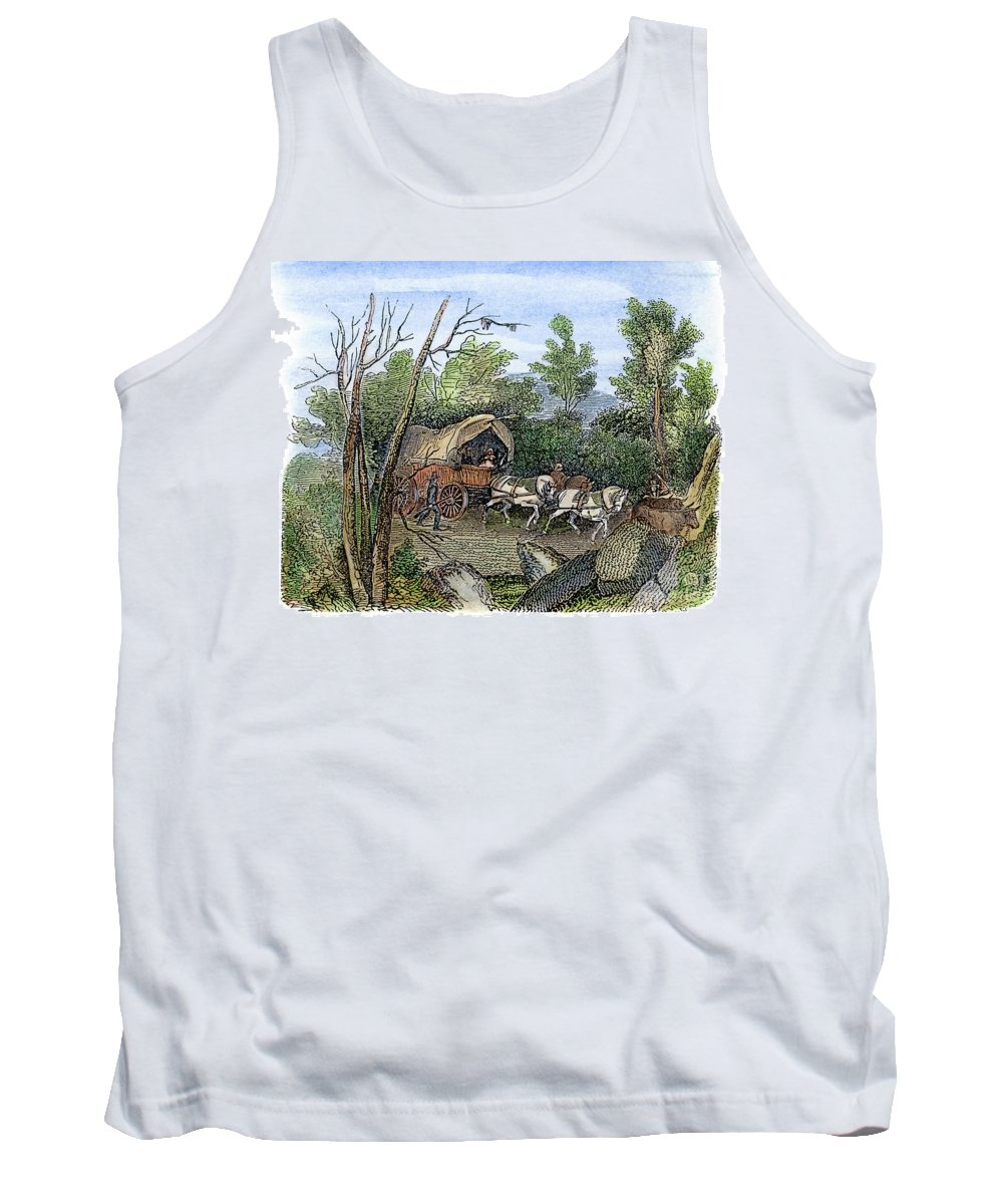 1636 Tank Top featuring the drawing Thomas Hookers Migration by Granger