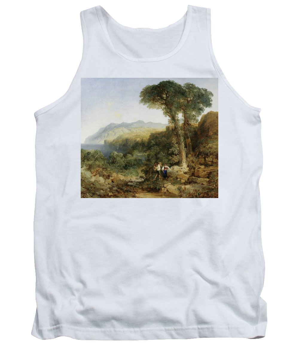 Amalfi Coast Tank Top featuring the painting Thomas Moran by MotionAge Designs