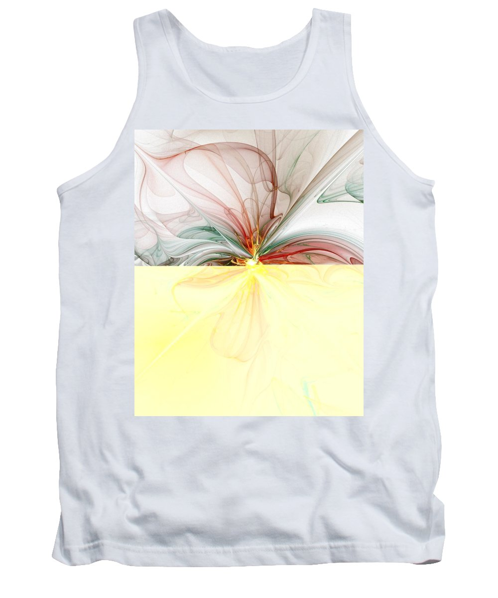 Digital Art Tank Top featuring the digital art Tiger Lily by Amanda Moore