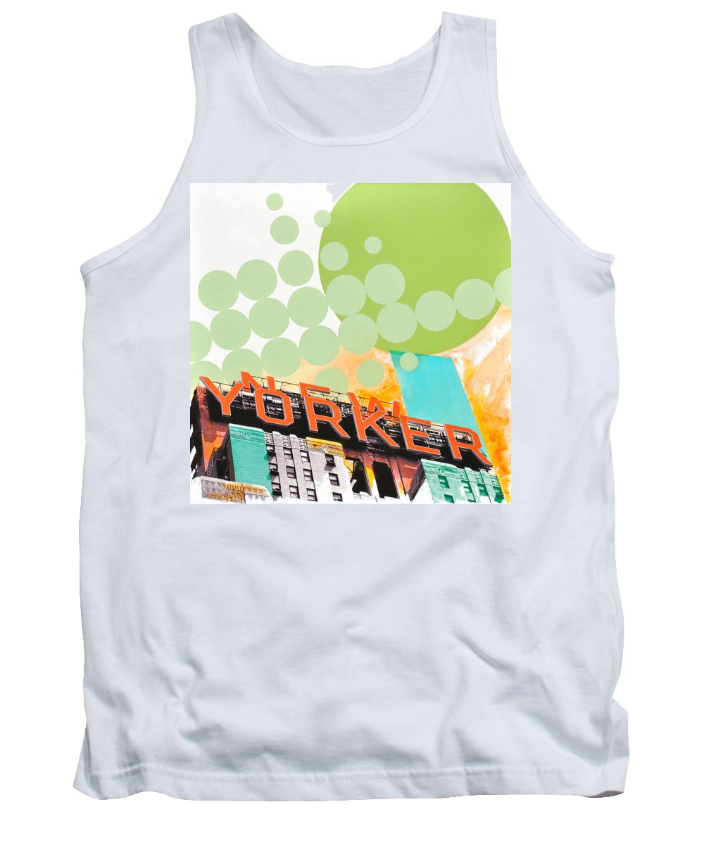 Ny Tank Top featuring the painting Times Square New Yorker by Jean Pierre Rousselet
