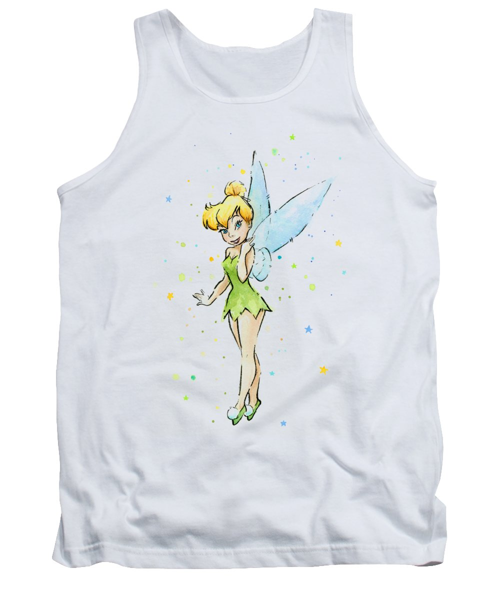 Tinker Tank Top featuring the painting Tinker Bell by Olga Shvartsur
