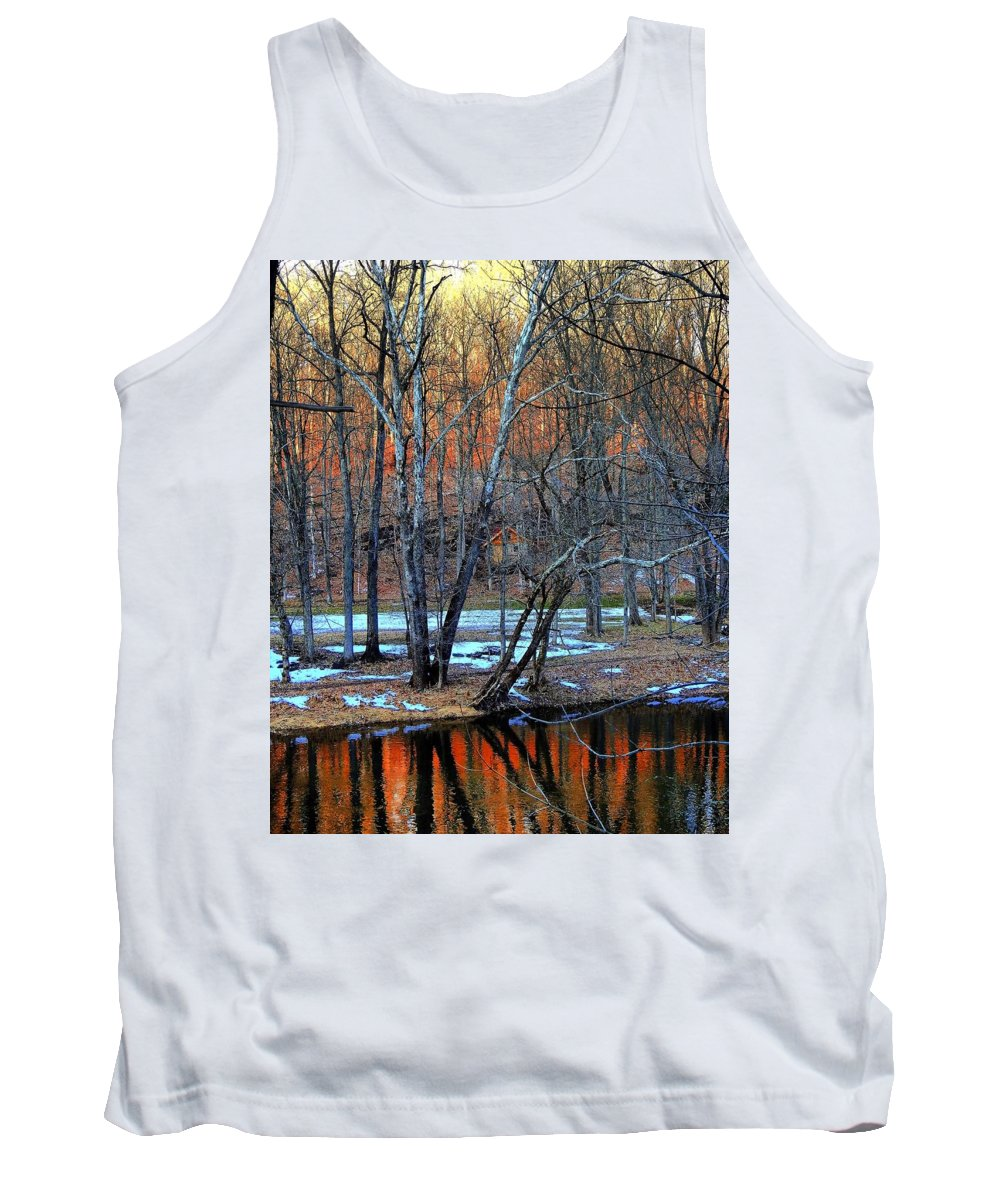 Tinyhouse Tank Top featuring the photograph Tiny House Sunset by Greg Kear