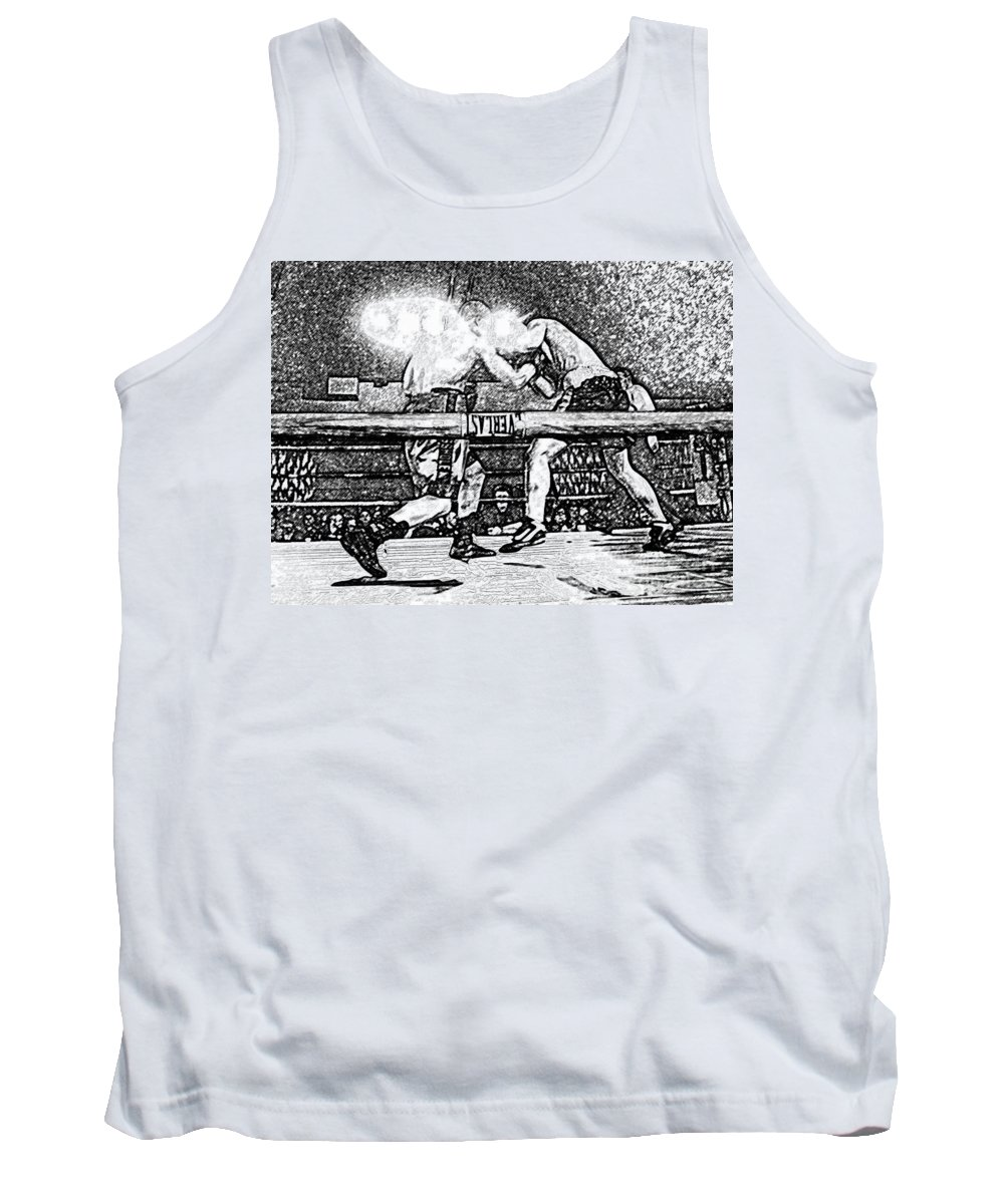 Boxing Tank Top featuring the photograph Titans Of The Ring by David Lee Thompson