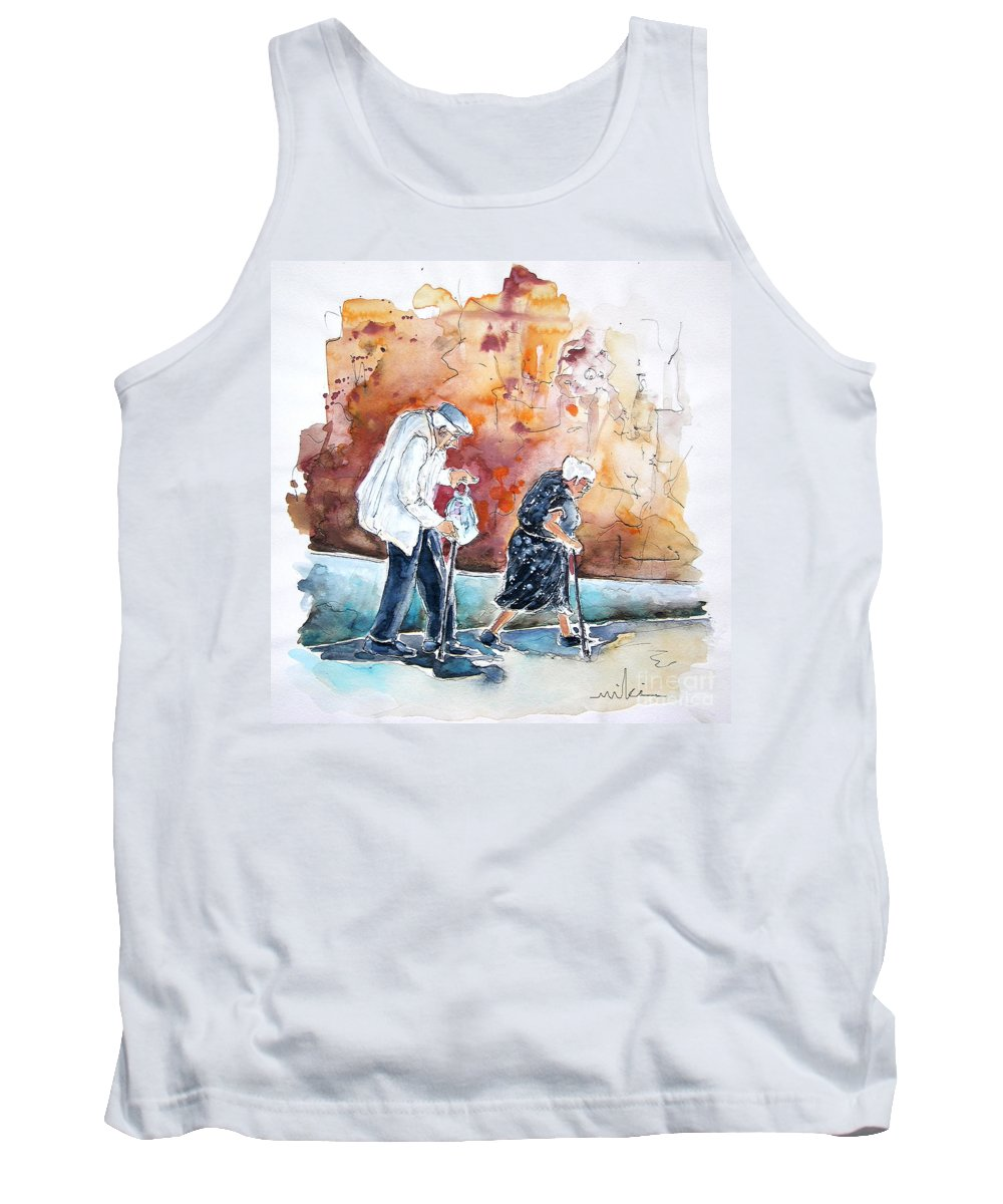 Portugal Paintings Tank Top featuring the painting Together Old In Portugal 01 by Miki De Goodaboom