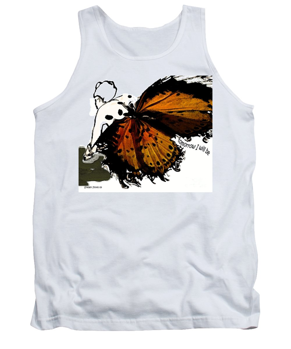 Woman Tank Top featuring the digital art Tomorrow I Will Be by Shelley Jones