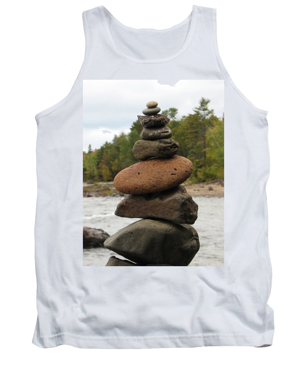 Rocks Tank Top featuring the photograph Top Of The Stack by Kelly Mezzapelle