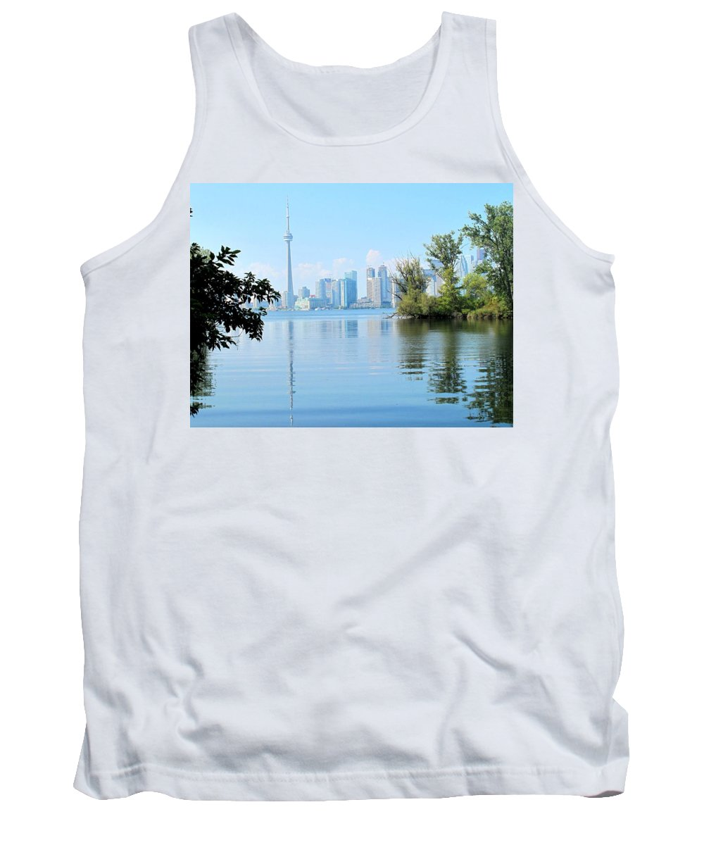 Toronto Tank Top featuring the photograph Toronto From The Islands Park by Ian MacDonald