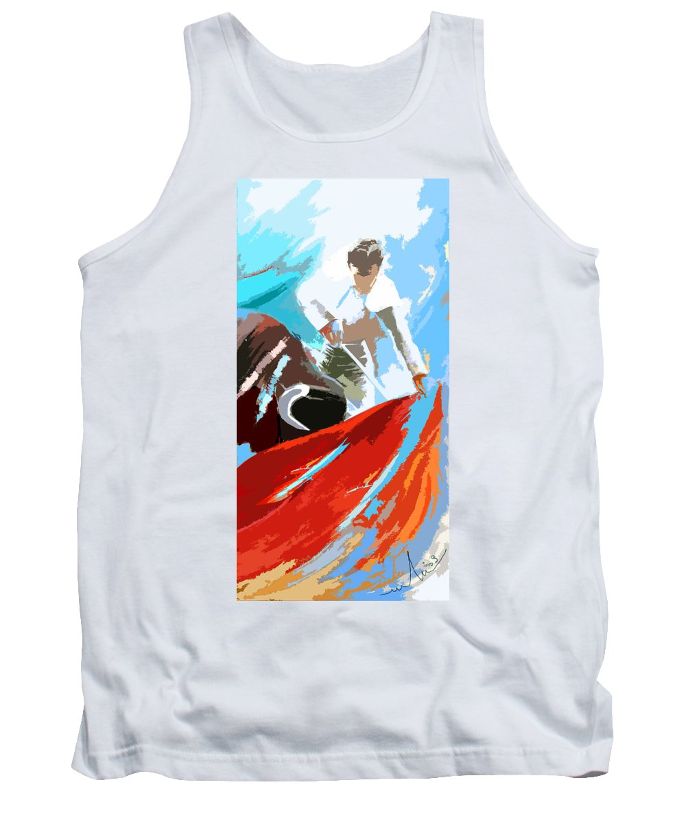 Animals Tank Top featuring the painting Toroscape 32 by Miki De Goodaboom